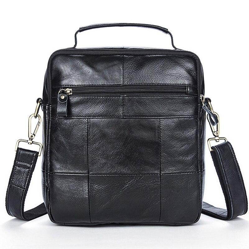 WESTAL Bag Men's Genuine Leather Men's Shoulder Bag For Men Vintage Messenger Crossbody Bags For Document Zipper Flap Handbag