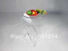Darmowa wysyłka hurtowa i detaliczna akrylowe stoły do herbaty nowoczesne zakontraktowane szafki nocne okrągłe stoły do kawy meble ogrodowe tanie tanio Meble do salonu Stolik Meble do domu 400dia*650hmm Modern Contracted Shenzhen China 2011311323 ONE LUX acrylic clear