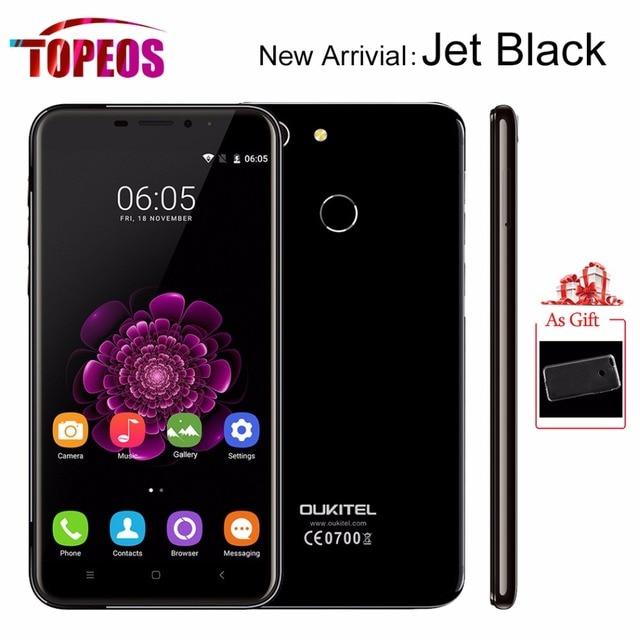 Oukitel U20 Plus Jet Black Mobile Phone MTK6737T Quad Core 2GB RAM 16GB ROM 5.5inch Android 6.0 13.0MP Fingerprint FHD 4G LTE