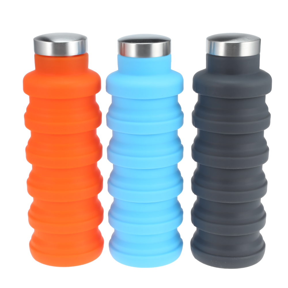 US $7 91 25% OFF|Outdoor Sport Silicone Folding Water Bottle Food Grade  Silicone Material Non Toxic Durable Travel Water Glass-in Water Bottles  from
