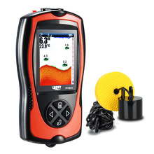 Lucky fishing finder FF1108-1CT  fishing fish in english Wired sensor fishfinder 45 degrees sonar fish lur echo sonunder lcd bluetooth fish finder sea fish detect device for ios for android 25m 80ft sonar fishfinder wireless fishing detector top quality