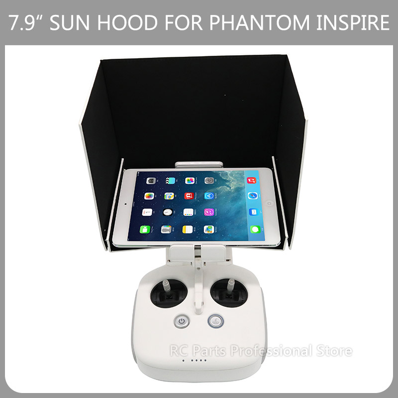 7.9 DJI Phantom 4/3 Remote Control Sunshade Hood Inspire 1 Controller FPV Monitor Sun Hood for iPad Mini 2/3/4 /7.9 Tablet new 9 7 inch fpv monitor sunshade sun hood for tablet ipad