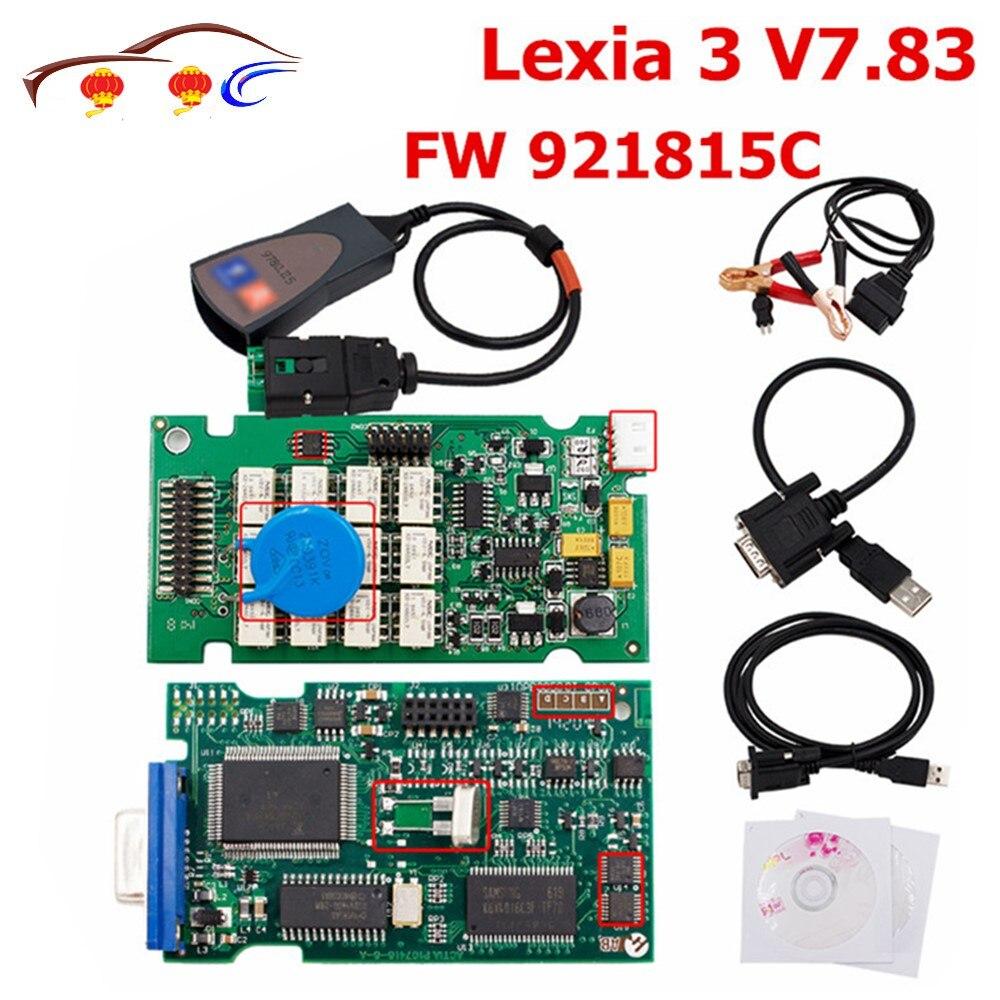 Pour Lexia3 Pp2000 V7.83 Obd2 Fw 921815c outil de Diagnostic Lexia 3 Diagbox 7.83 multi-langues pour Peugeot & citroen Scanner