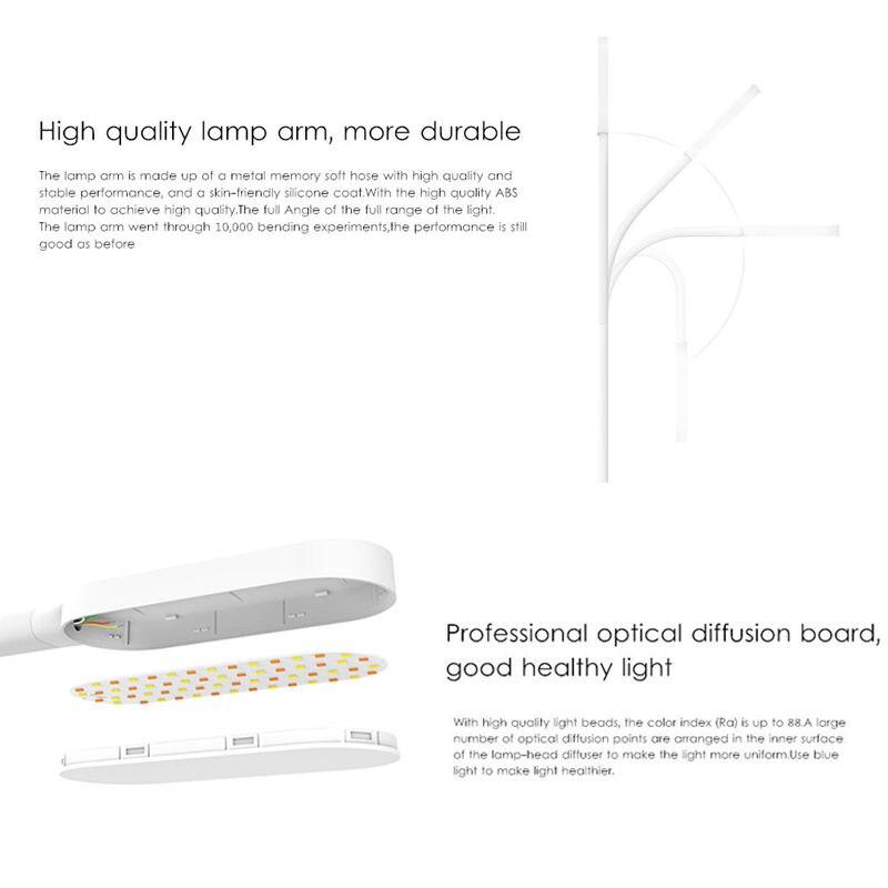 Image 3 - Оригинальный Xiaomi Yeelight светодиодный настольная лампа с регулируемой яркостью Смарт Складной USB сенсорный сенсор Настольная лампа для чтения света YLTD01YL стандарт 3 Вт-in Умный пульт управления from Бытовая электроника