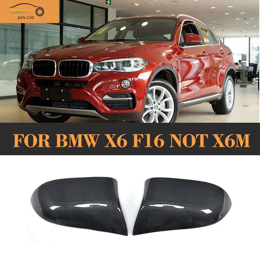 Carbon Fiber car side mirror fender auto mirror shield for BMW X6 F16 Standard 2014 2015 2016 Not M carbon fiber mirror rearview cover 2pcs for bmw x6 f16 2015