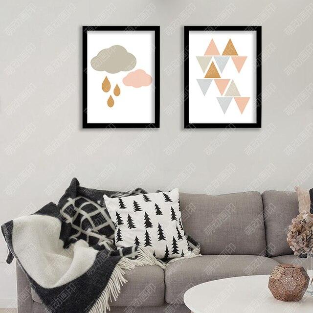 Nube de lluvia día impresión de la lona del arte de la pared ...