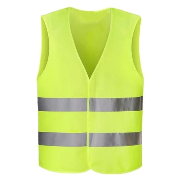 Reflektierende Weste Hohe Sichtbarkeit Fluoreszierende Outdoor Sicherheit Kleidung weste reflektierende sicherheits Weste Lüften Weste 02