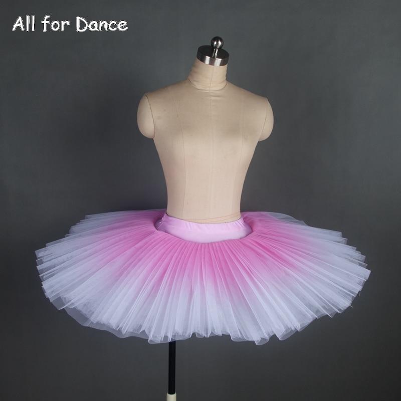 All for Dance Rehearsal And Practice Professional Tutu Stiff Tulle Half Tutu Women Ballet Dance Tutu Purple Fading Color Ballet Half Tutu