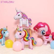STARLZMU 1PCS Unicorn Balloons Birthday Party Decorations Kids Globos Cartoon Helium Balloon Balony
