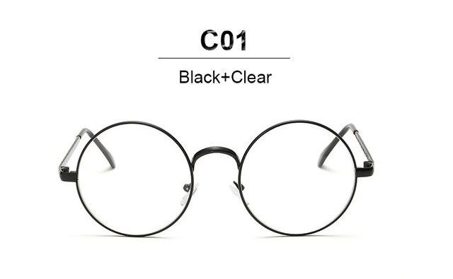 16708f20cd VictoryLip Hot Round Glasses Men Women Metal Frame Clear Lens Transparent Harry  Potter Eyewear Retro Female Optics Eyeglasses