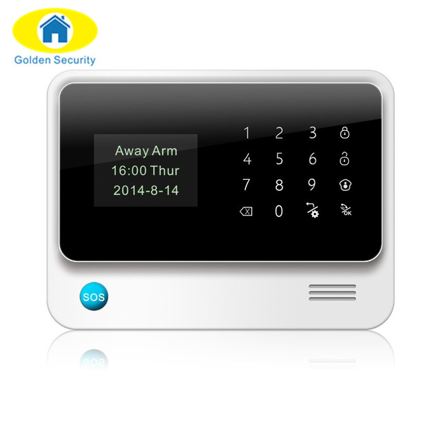 Golden Security WiFi GPRS Alarm GSM 2G Autodial Security Alarm/Personalise Alarm System APP Control PIR Detector Door Sensor