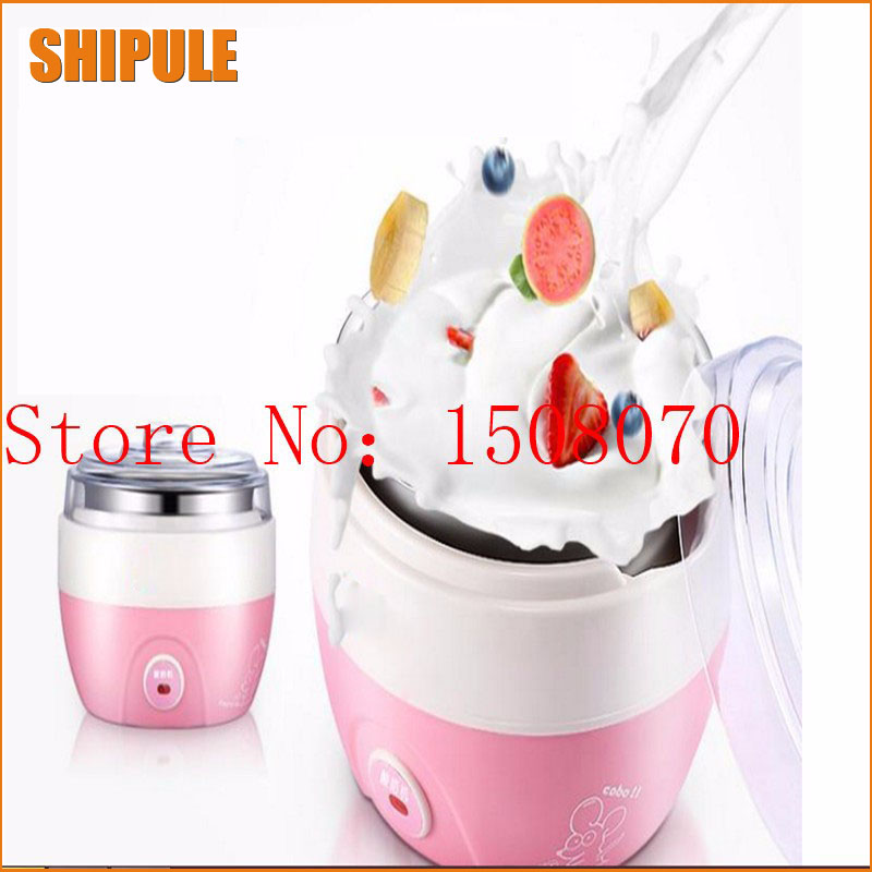 Electric Automatic Yogurt Maker Stainless Steel Liner Container Household Yogurt Machine cukyi household electric multi function cooker 220v stainless steel colorful stew cook steam machine 5 in 1