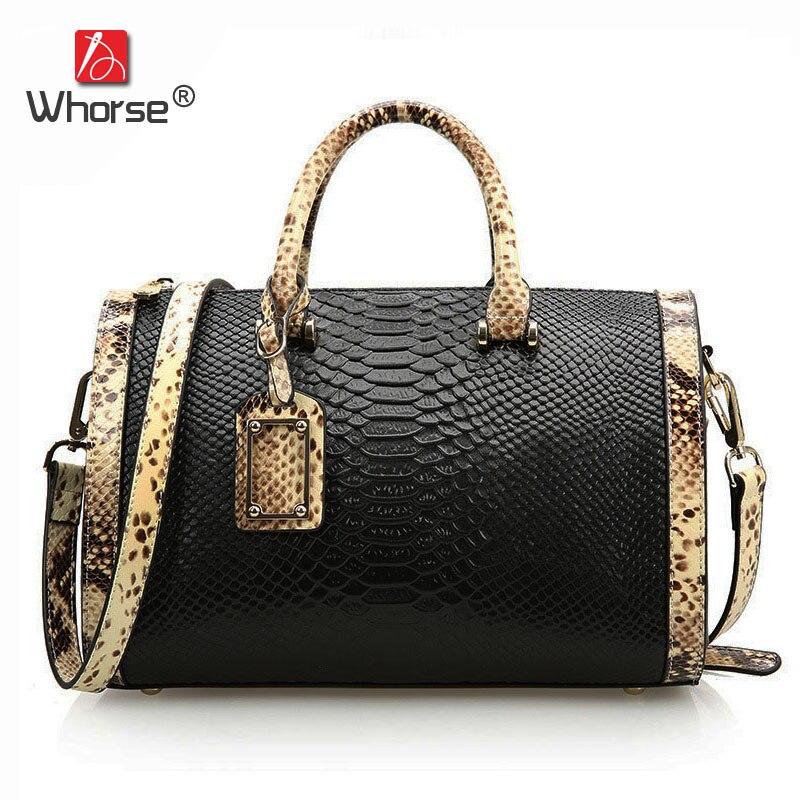 Famous Brand Serpentine Handbags Designer Boston Bag Genuine Leather Women Crossbody Shoulder Messenger Bags For Lady W04970 цена