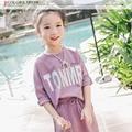 Весна 2017 новый костюм детей Корейской девушки одежда юбка мода вентилятор lette бесплатная доставка