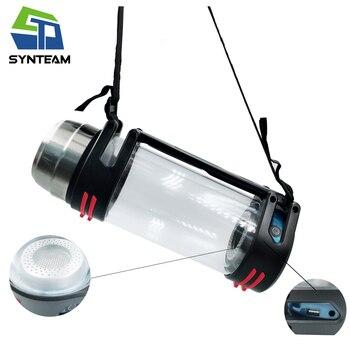 Synteam de hidrógeno de la botella de agua de deportes al aire libre de viaje PEM membrana portátil generador de hidrógeno ionizador de agua alcalina de H2