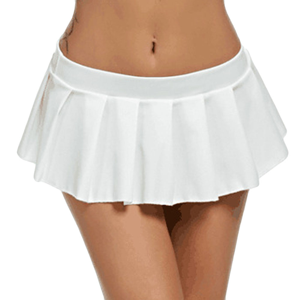 Women Ladies Micro Mini White Skirts Bodycon Dance Club Metallic Autumn Cheerleading Skirts Rokjes Dames Jupe Taille Haute Cg