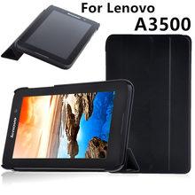 Caso Protector de la Cubierta Para Lenovo Tab A7-50 A3500 Protectores cubiertas Inteligentes cuero Tablet PC A7 A7-50 A750 PU Casos de la Manga de 7 pulgadas