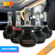 S1 Auto Led H7 Headlight H13 9005 HB3 9006 HB4 H4 Led Car Bulb 6500K CSP Chips 50W 8000lm Fanless H8 H11 Fog Lamp All-in-one