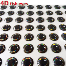 2017NEW 4D fish eyes fly fishing lure eye realistic holographic tying material size 3mm-12mm quantity:300pcs/lot