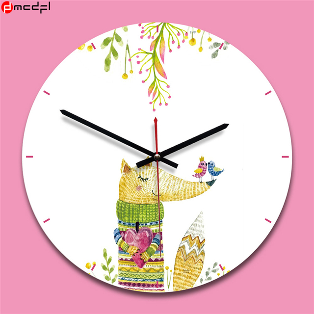 11 Inch Novelty Wooden Acrylic Wall Clock Decoration for Kids Bedroom/ Living Room/ Kitchen