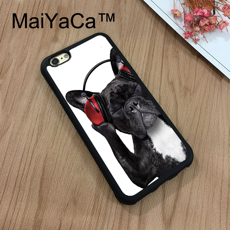 MaiYaCa Pug Dog Animal Pet Head For iPhone 8 Case Soft TPU Rubber Phone Cases Cover For Apple iPhone 8 Case Coque