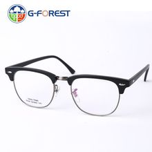 Classic Retro Clear Lens Nerd Frames Glasses Fashion brand designer Men Women Eyeglasses Vintage Half Metal Eyewear Frame TR90