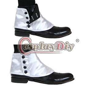 Image 2 - Cosplaydiy Medieval Historical Retro Mens Premium Satin Buttons Spats Victorian Shoes Covers Spats L320