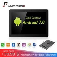 AMPrime 10,1 Android 7,0 Автомобильный подголовник монитор двойная камера 4G Аудио Видео плеер gps ГЛОНАСС защита глаз Беспроводной Wi Fi приложение