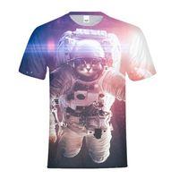 2018 Funny T shirt Men/Women 3d Tshirt Print Space constellation animal astronaut cat Short Sleeve Summer Tops Tees T shirt Male