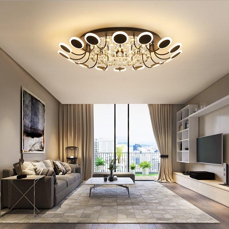 Nouveauté acrylique plafond moderne à LEDs lustre lumière pour salon chambre étude salle AC85-265V plafond lustre lumière