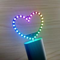 DYKB 30 lichter Herz-förmigen RGB LED-taste schalt Mehrere blinkt Gradienten lampe 5050 LEDS USB POWER