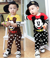 Baby Clothing Set Spring Kids Sports Suit Boy Clothes Set Children Tracksuit Mickey Long Sleeve T-Shirt+Pants Baby Girls Clothes