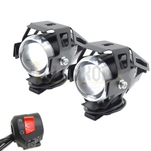 12V Motorcycle Metal Headlight Driving Spot Head Lamp Fog Light for Kawasaki  750R ZX-10R ZX-6 ZX-6R ZR-6R ZX-7R ZX-12R ZX-14R