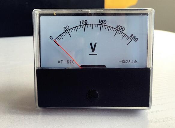 DH-670 AT-670 DC 0-250V Analog  Panel voltmeter Voltmeter pointer type meter