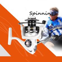 лучшая цена 13+1 axis Metal Head Fishing Reel Aluminium Alloy Wire Cup Spinning Wheel Reel