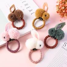 Cute Animals Rabbit Style Hair Band Felt Three-Dimensional Plush Rabbit Ears Headband For Children Girls Hair Accessories 4829(China)