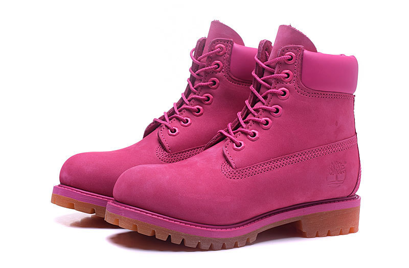 Original TIMBERLAND Women 10061 Pink Winter Boots,Woman Female Lovely Genuine Leather Ankle Anti-Slip Outdoor Warm Shoes 36-39.5 1