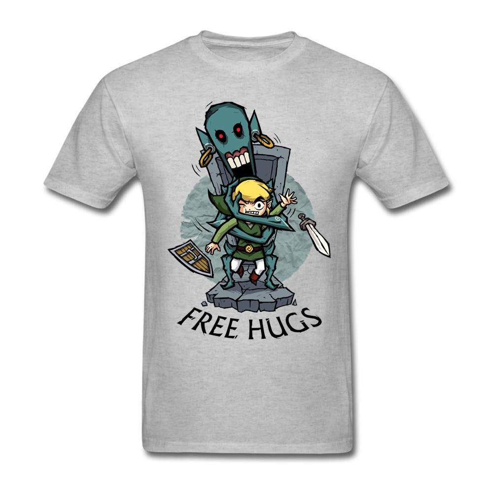 zelda wind waker free hugs adult man fitted t shirt lundi. Black Bedroom Furniture Sets. Home Design Ideas