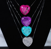 Heart shape pendant necklace Fusion stone 30mm pendant necklace women party jewelry gift NFX0012162