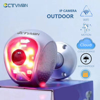 CTVMAN 1080P Home Security camera IP Camera Outdoor WIFI CCTV Camera Outdoor 2MP home surveillance Two Way Audio 1.44mm Lens