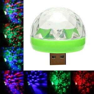Image 1 - ITimo מיני USB LED שלב מנורת נייד כדור מנורות מסיבת קישוט צבעוני ניאון אור צבע שינוי דיסקו DJ שלב הדלקת