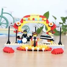 210 Pcs Wange Building Blocks Rock Band Drum Kit Guitar Musical Instruments Self-Locking Brick Christmas Gifts for Children