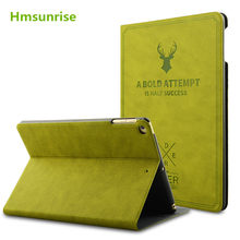 Funda Hmsunrise para ipad air 2 funda de lujo para ipad air 2 de Apple para ipad 6 funda con diseño de moda de despertador/Sueño automático envío gratis(China)