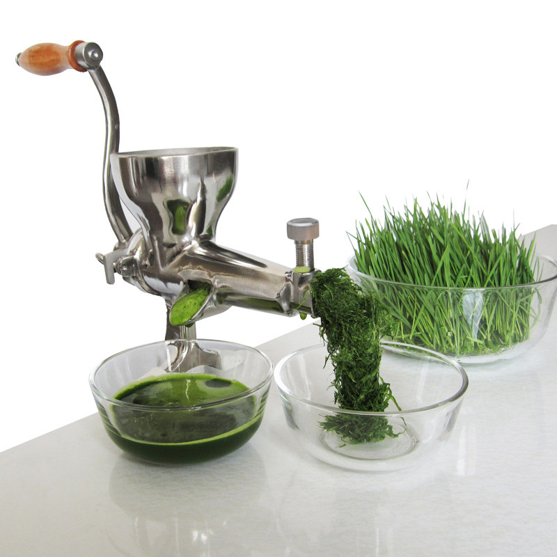 Wheat grass juicer manual stainless steel oranges apple lemon grape cucumber tomato potato wheatgrass juice extractor for home healthy mini manual juicer with good price