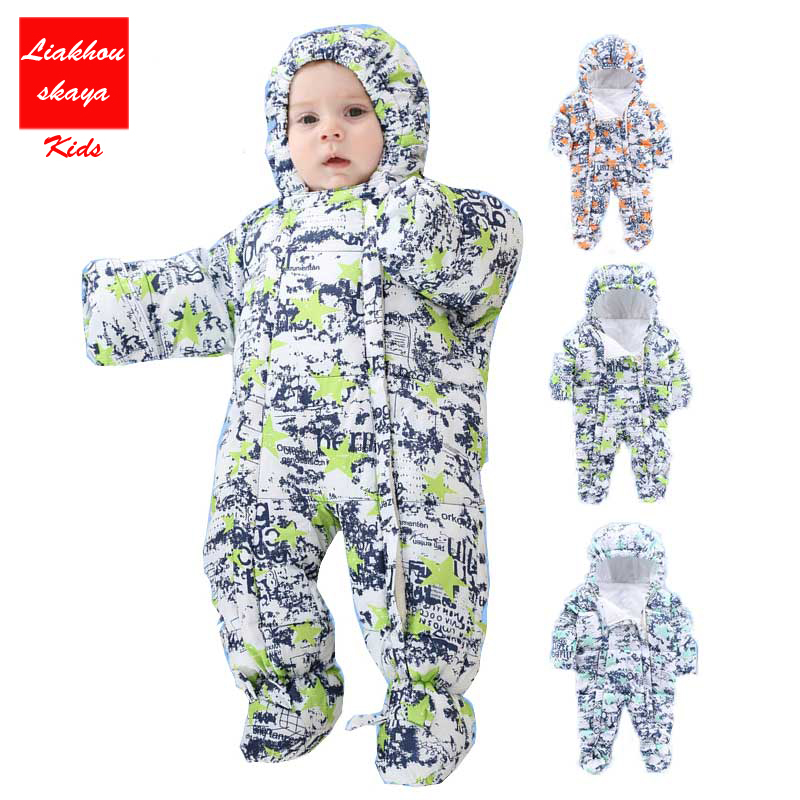 Baby Girl Clothes bebe for Newborn Cartoon Baby Boy Winter Rompers 2017 Zipper Cotton Baby Snowsuit Thick Warm Toddler Jumpsuits