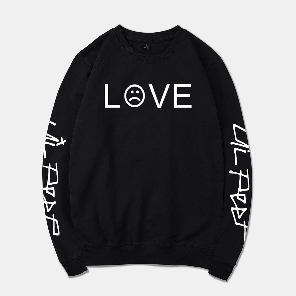 Rapper Lil Peep LOVE Sweatshirts streetwear Pullovers long sleeve Hoodies casual Blouse Shirts unisex hoodie sweatshirt
