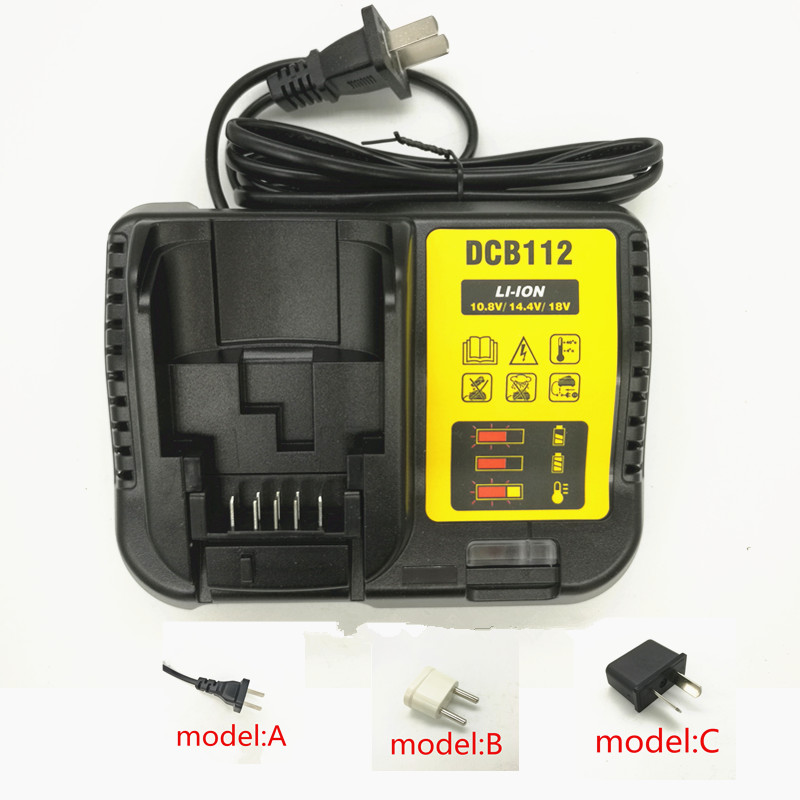 Substituir para Dewalt Acessórios da Ferramenta Carregador 12 14.4 Dcd716 Dcd710 Dcd813 Dcf815 Dcf813 Elétrica Ac220-240v Dcb112 10.8 v