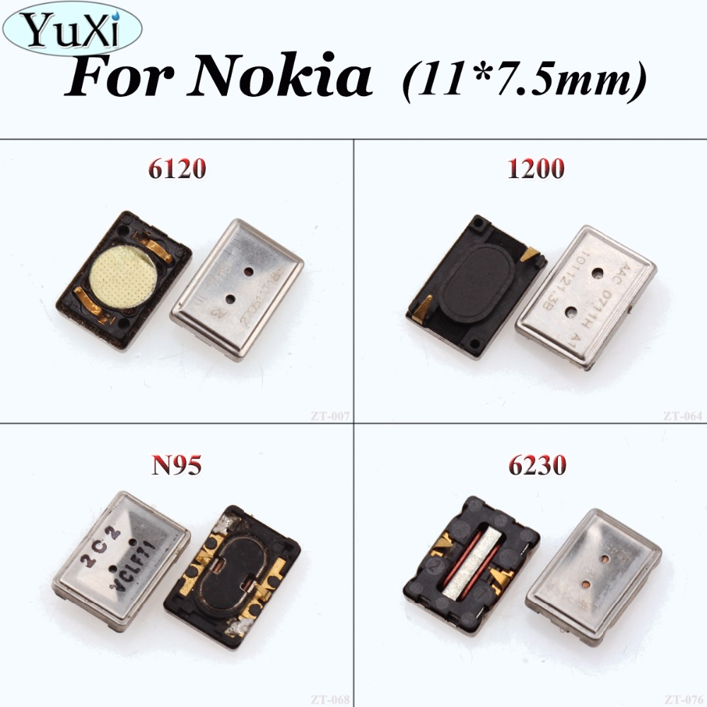 YuXi 2pcs Earpiece Ear Speaker For <font><b>Nokia</b></font> Lumia N73 1200 6230 N81 6120 6300 <font><b>N76</b></font> N79 N95 Earspeaker Replacement Repair 11*7.5mm image