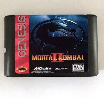 Top quality 16 bit Sega MD game Cartridge for Megadrive Genesis system — Mortal Kombat II