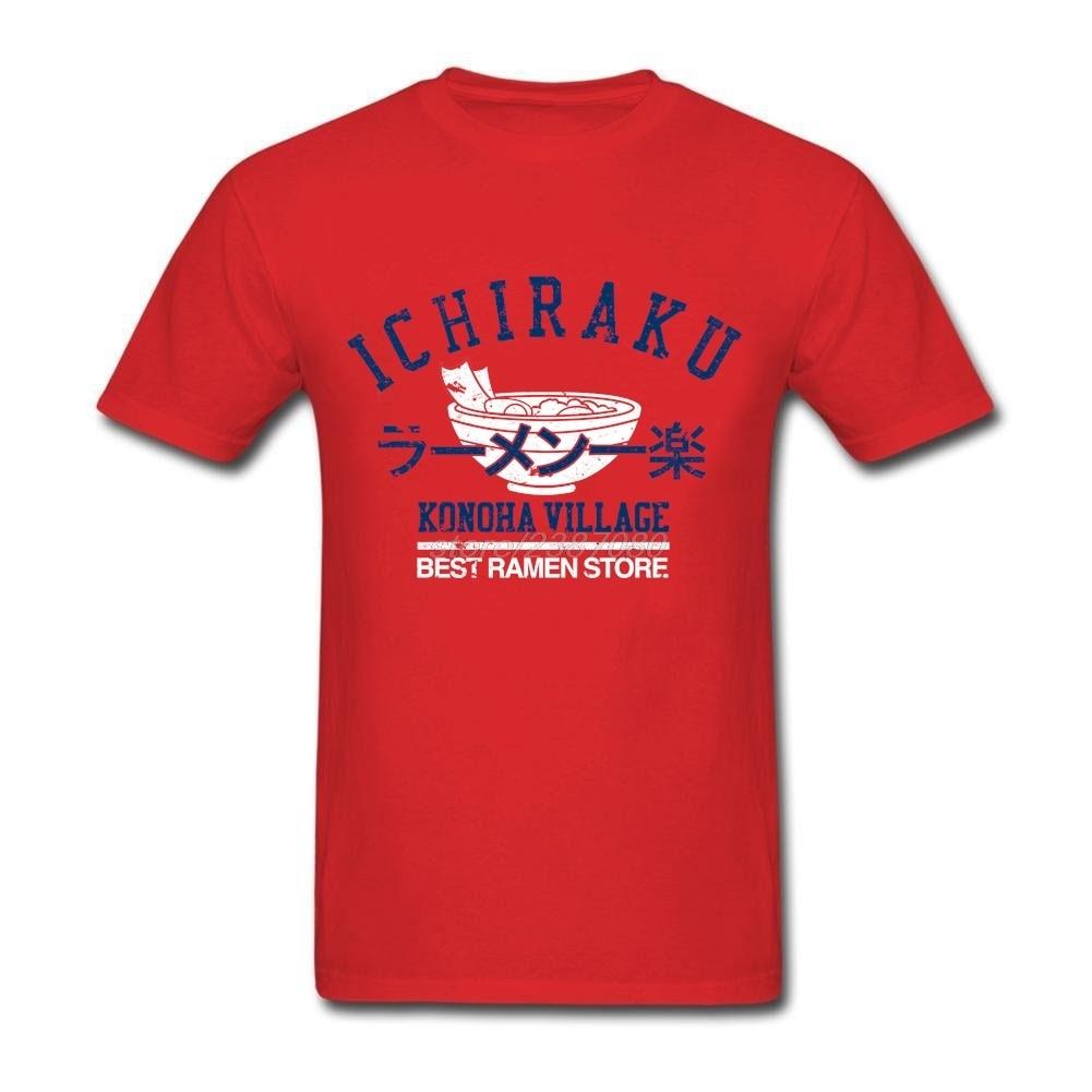 Shirt design printer - Designing Ichiraku Ramen T Shirts Men S Round Collar T Shirt Printer Summer O Neck Male Tees